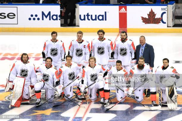 The Pacific Division AllStars team poses for a picture prior to the 2018 Honda NHL AllStar Game at Amalie Arena on January 28 2018 in Tampa Florida
