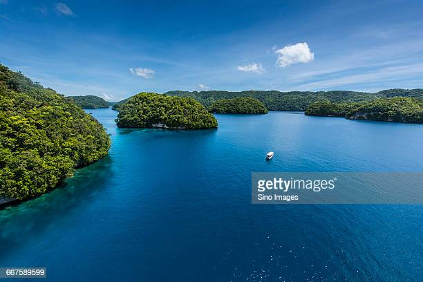 The Pacific Island of Palau Aerial Scenery