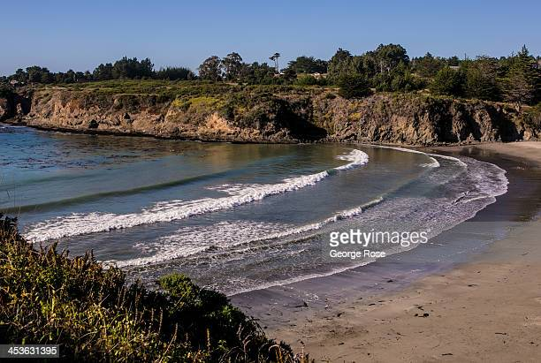 The Pacific Ocean meets a secluded beach near the town of Casper as viewed on September 6 in Fort Bragg California Located three hours north of San...
