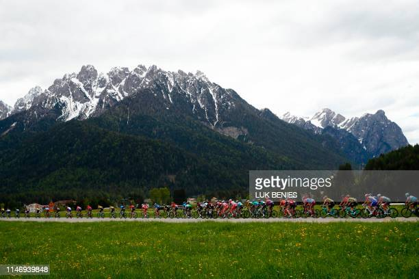 The pack rides during the stage eighteen of the 102nd Giro d'Italia Tour of Italy cycle race 222kms from Valdaora to Santa Maria Di Sala on May 30...