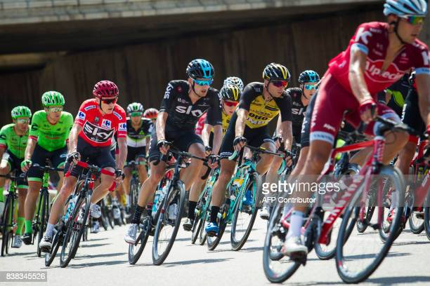 The pack rides with the pack during the 6th stage of the 72nd edition of 'La Vuelta' Tour of Spain cycling race a 2044km route between VilaReal and...