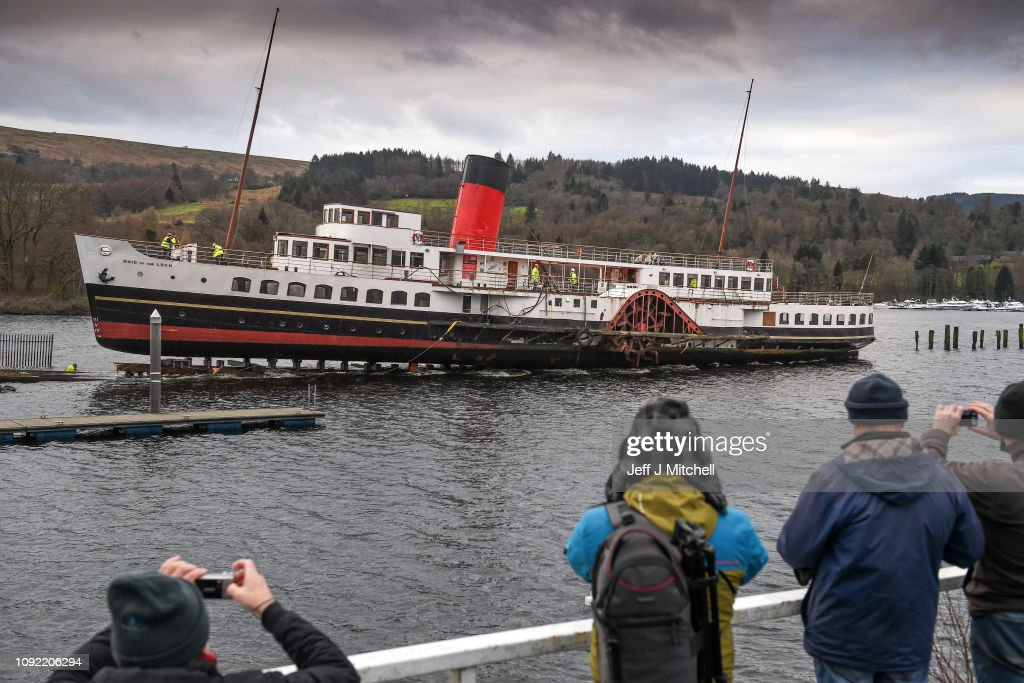 Loch Lomond's Iconic Steamer Leaves The Water For Forty Year Check-up : News Photo