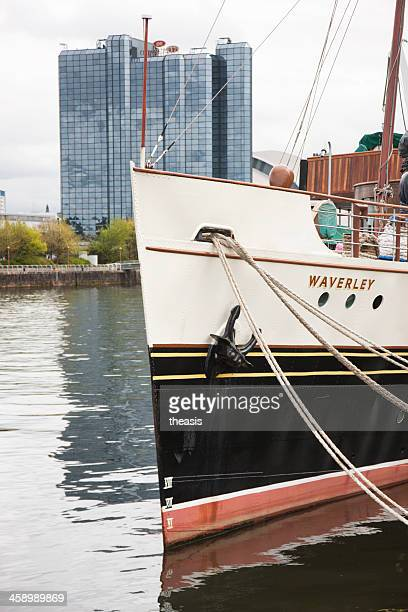 the paddle steamer waverley, glasgow - theasis stockfoto's en -beelden