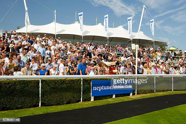 The Paddock area stands at 'Glorious Goodwood' Goodwood Racecourse 30th July 2014