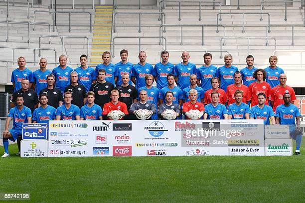 The Paderborn team with Soeren Brandy, Eugen Klukin, Frank Loening, Jens Wemmer, Sebastian Schuppan, Christian Strohdiek, Matthias Holst, Sebastian...