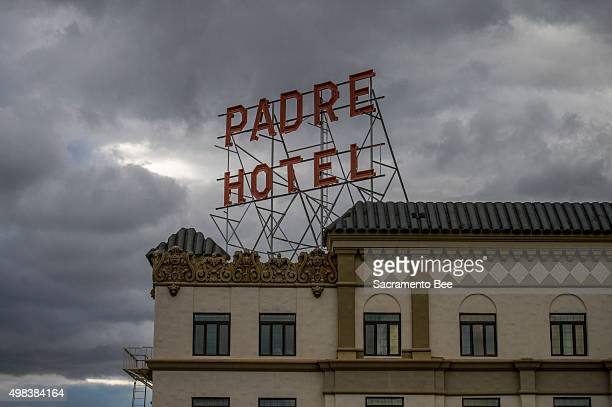 The Padre Hotel on the corner of 18th and H street in downtown Bakersfield Calif is a historical landmark and combines architecture dating back to...