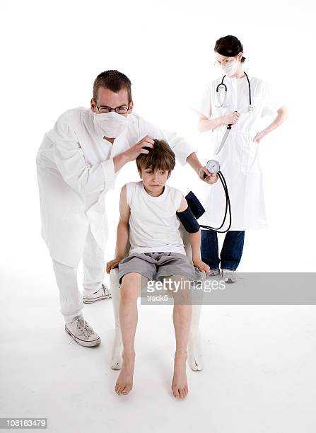 the paediatrician - funny surgical masks stock pictures, royalty-free photos & images