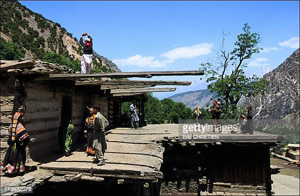 The pagan Kalash minority of Pakistan In Pakistan In July 2001The walls of Kalash houses are made of flat stones supported by mortised beams in the...