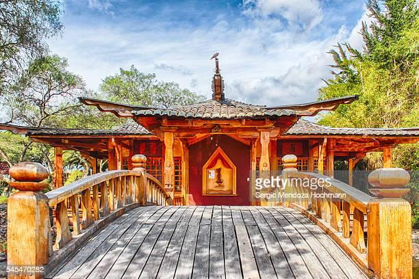 the pagoda at the universidad san francisco de quito - quito, ecuador - universidad stock pictures, royalty-free photos & images