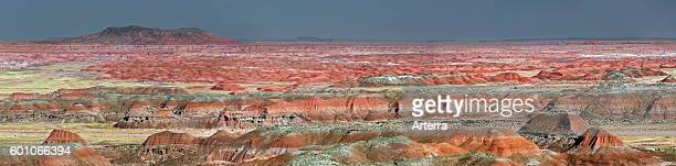 The Painted Desert, part of the Petrified Forest National Park stretches some 50,000 acres of colorful mesas, buttes, and badlands, Arizona, USA.