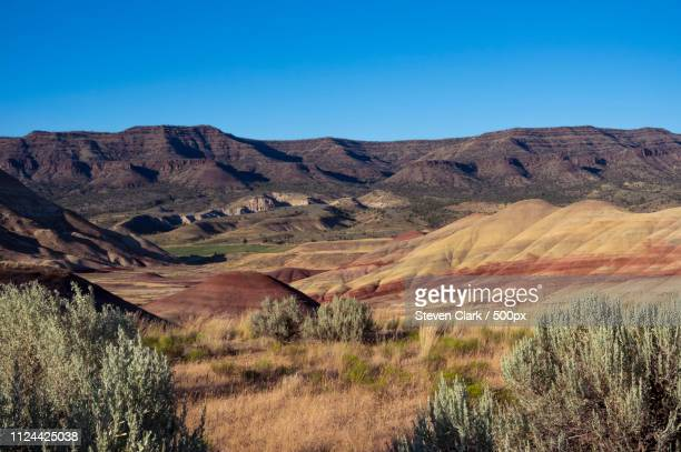 the painted hills - painted hills stock pictures, royalty-free photos & images