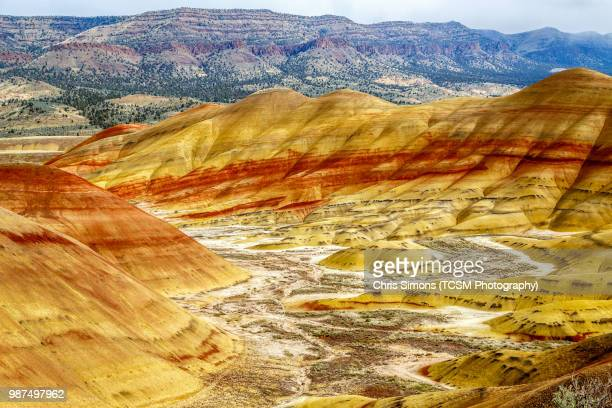 the painted hills - fossil site stock pictures, royalty-free photos & images