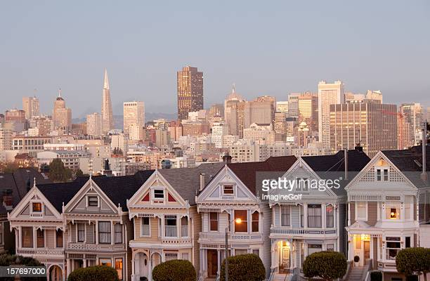 the painted ladies - haight ashbury stock photos and pictures