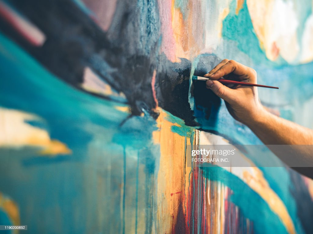 The painter hands : Stock Photo