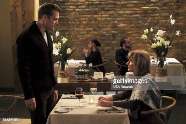 SUITS The Painting Episode 612 Pictured Gabriel Macht as Harvey Specter Brynn Thayer as Lily Specter