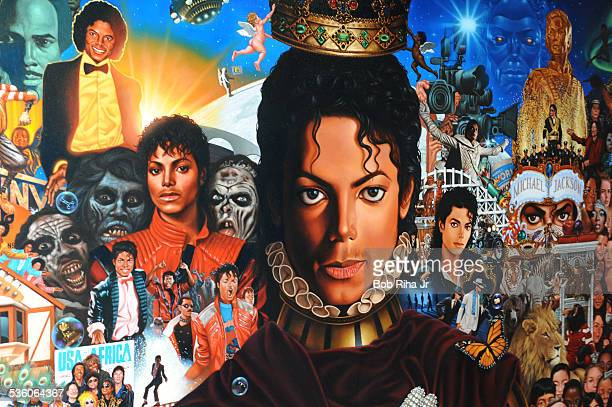 The painting of Michael Jackson done by Kadir Nelson December 8 2010 in Los Angeles California