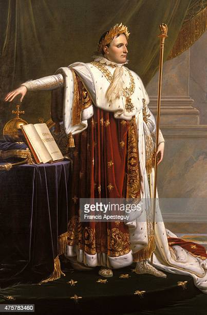 The painting of the Emperor Napoleon I with the Napoleonic Code painted by GirodetThe painting was commissioned by Napoleon himself in 1808 to...