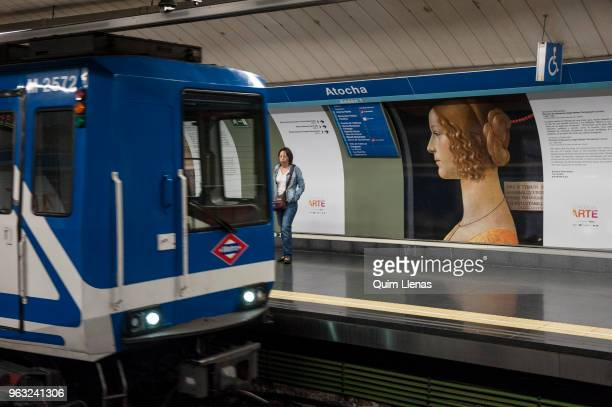 The painting 'Retrato de Giovanna Tornabuoni' by Ghirlandaio is displayed on the walls of the Atocha metro station named since today the Art Station...