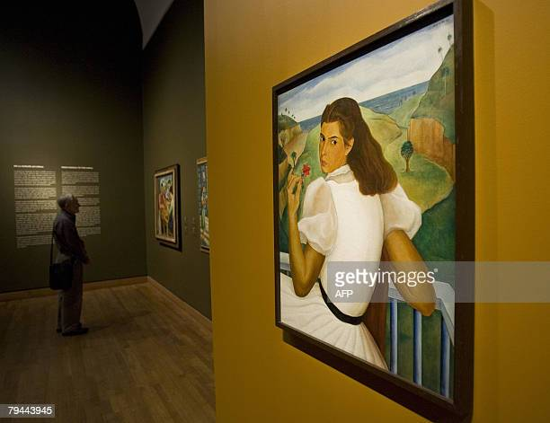 The painting Retrato de Mary by Jorge Arche is displayed during The Cuba Art and History from 1868 to Today exhibition 31 January 2008 at the...