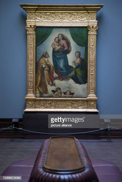 The painting 'Sistine Madonna' by Raffael from 1512/13 can be seen at the painting gallery 'Alte Meister' in Dresden, Germany, 21 November 2016....