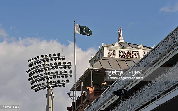 The Pakistan flag flying from the top of the Pavilion at Lord's during the ICC World Twenty20 Final between Pakistan and Sri Lanka at Lord's London...
