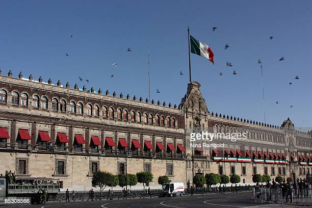 The Palacaio Nacional on February 23 2009 in Mexico City Mexico With an estimated population of more that 22 million inhabitants Mexico City is one...