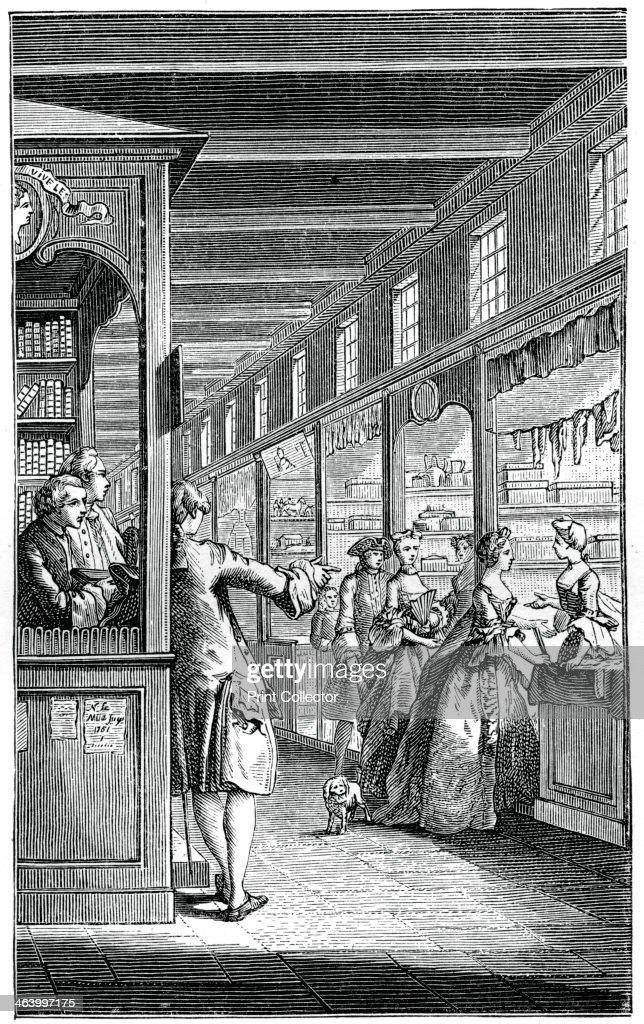 The Palace Galleries, (1885).Artist: Hubert Francois Gravelot : Foto jornalística