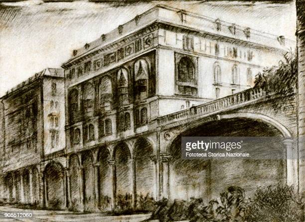 The Palace in Genoa at XX Settembre street where the Società Anonima Ilva was founded Italy Genoa February 1st 1905