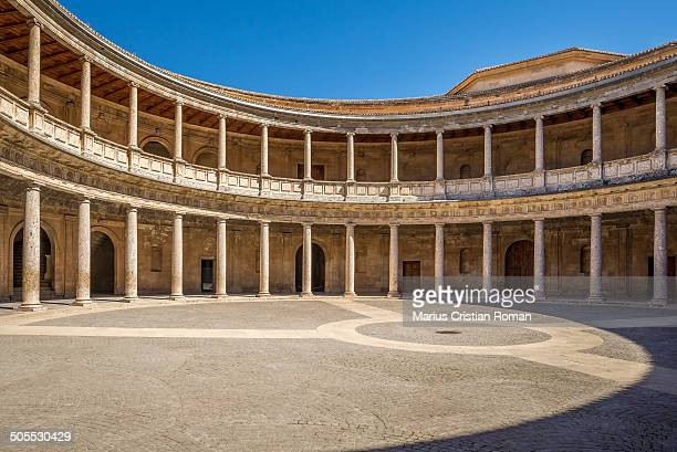 The Palace of Charles V is a Renacentist construction in Granada, southern Spain, located on the top of the hill of the Assabica, inside the Nasrid...