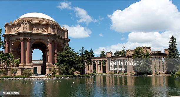 The Palace of Fine Arts in the Marina District of San Francisco California