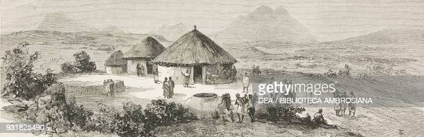 The palace of King John of Abyssinia Adwa Ethiopia illustration from The Graphic Volume XXIX no 760 June 21 1884