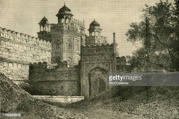 The Palace of the Mogul Emperors, Delhi', 1890. The Red Fort in Delhi was the main residence of emperors of the Mughal dynasty until 1856 and was...
