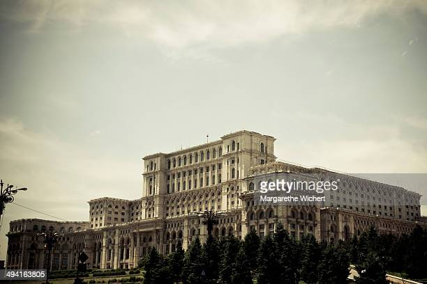 The Palace of the Parliament built by former Romanian dictator Nicolae Ceausescu on June 3 2011 in Bucharest Romania