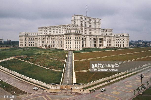 The Palace of the Parliament in Bucharest after the Romanian Revolution 1990 It was built by Nicolae Ceauescu and originally intended as his personal...