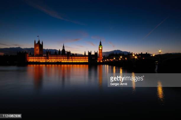 The Palace of Westminster at dusk