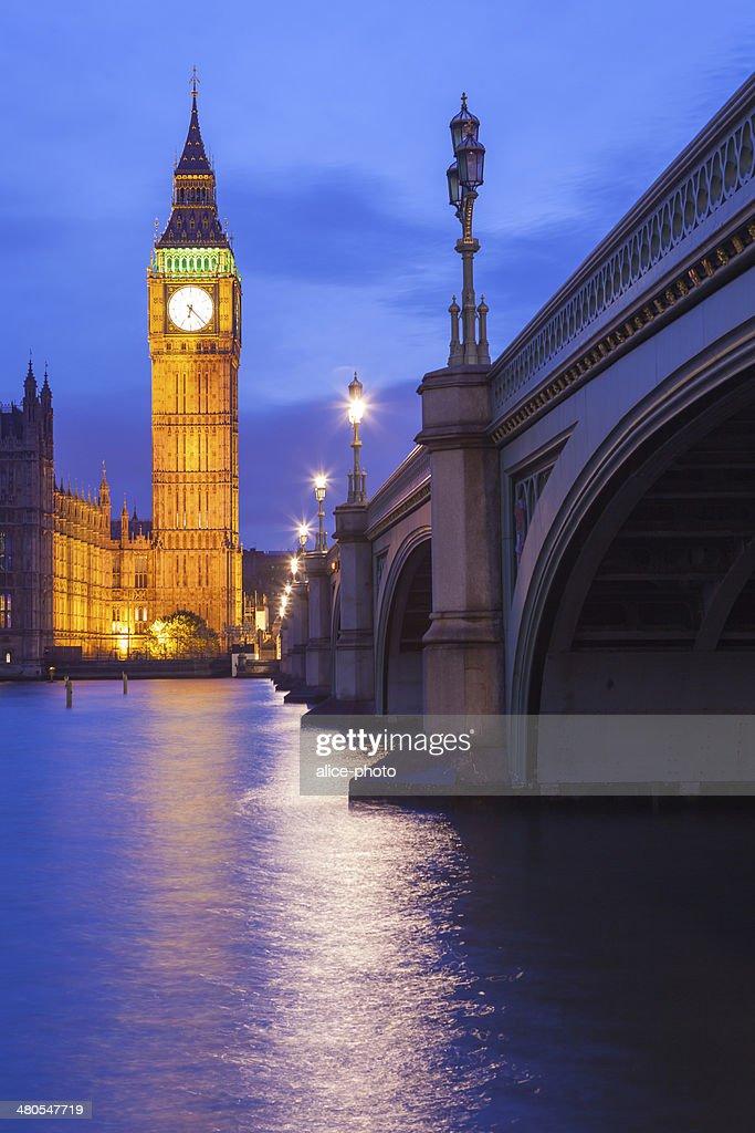 O Palácio de Westminster Big Ben, Londres, Inglaterra, Reino Unido : Foto de stock