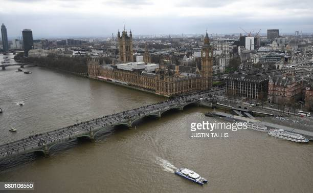 The Palace of Westminster comprising the House of Commons and the House of Lords wchich together make up the Houses of Parliament are pictured on the...