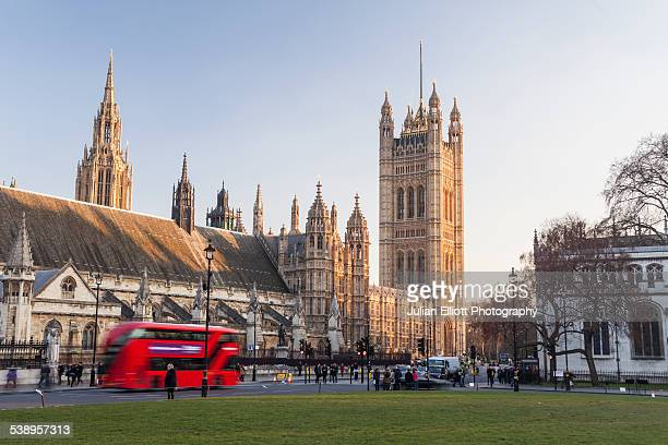 the palace of westminster from parliament square. - victoria tower stock pictures, royalty-free photos & images