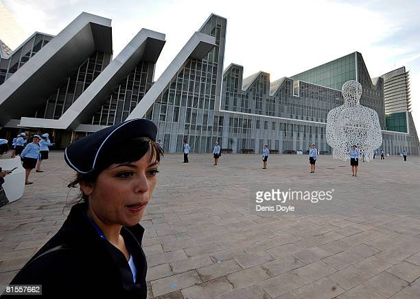 The Palacio de Congresos building is shown at the Expo Zaragoza 2008 World Fair which was opened on the banks of the river Ebro on June 13 2008 in...