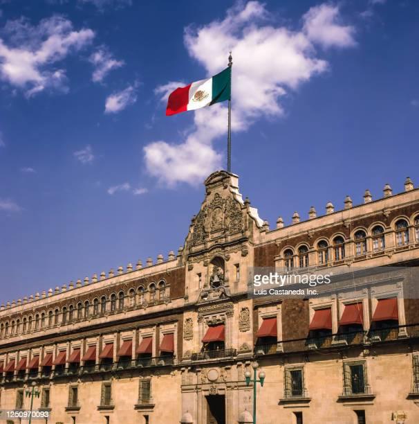 the palacio nacional. mexico city. mexico. - national palace mexico city stock pictures, royalty-free photos & images