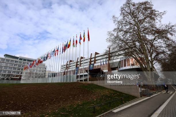 The Palais de l'Europe, the principle building of the Council of Europe, stands in Strasbourg, France, on Tuesday, Feb. 12, 2019. The European...