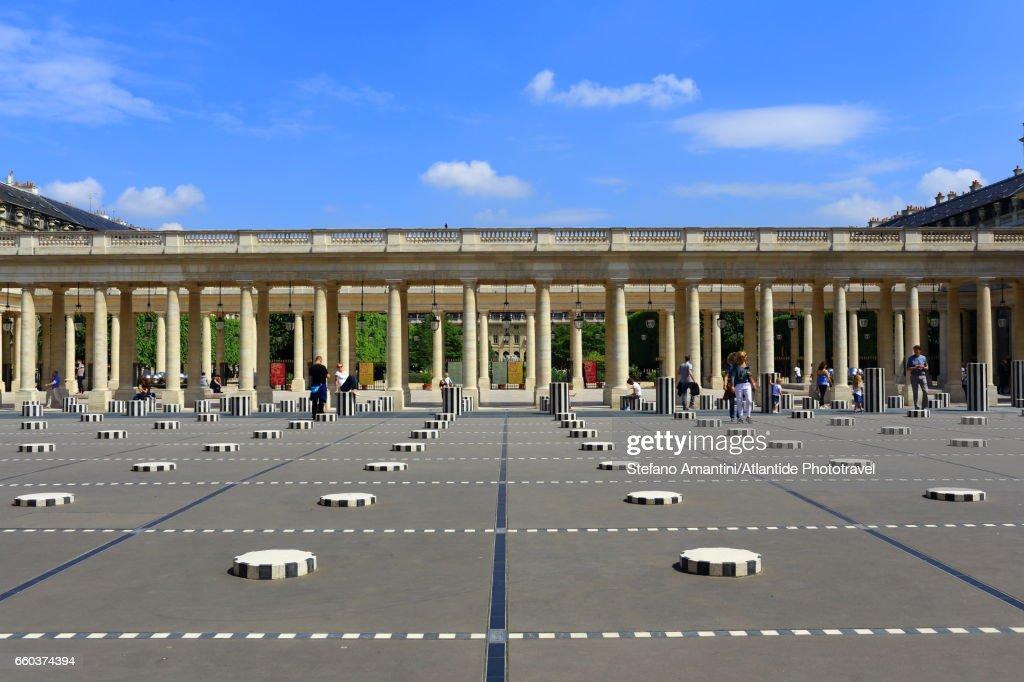 The Palais Royal, Cour (courtyard) d'Honneur : Stock Photo