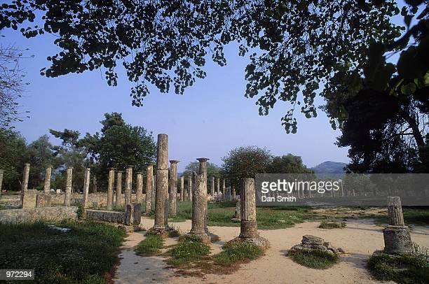 The Palaistra at the site of the Ancient Olympic Games in Olympia in Greece