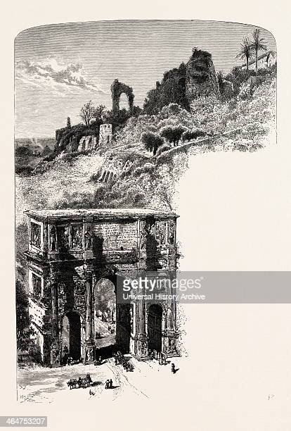 The Palatine Hill And Arch Of Constantine From The Coliseum Rome And Its Environs Italy 19th Century Engraving