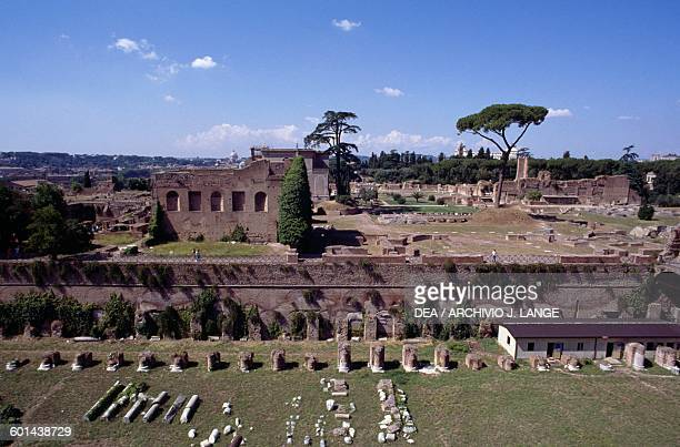 The Palatine Stadium Domus Augustana Palatine Hill Historic Centre of Rome Lazio Italy Roman civilisation