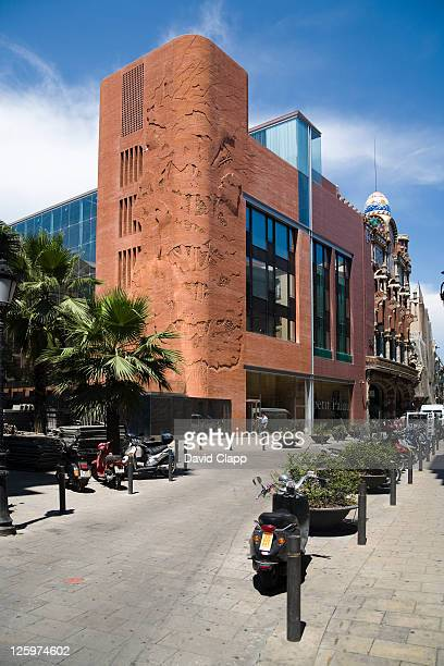 the palau de le musica catalana, a concert hall in barcelona, spain, europe - vaudeville stock pictures, royalty-free photos & images