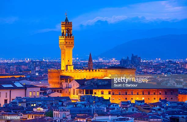 The Palazzo Vecchio and the Uffizi Museum