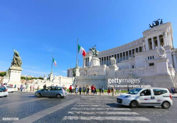 The Palazzo Venezia in central Rome, Italy.