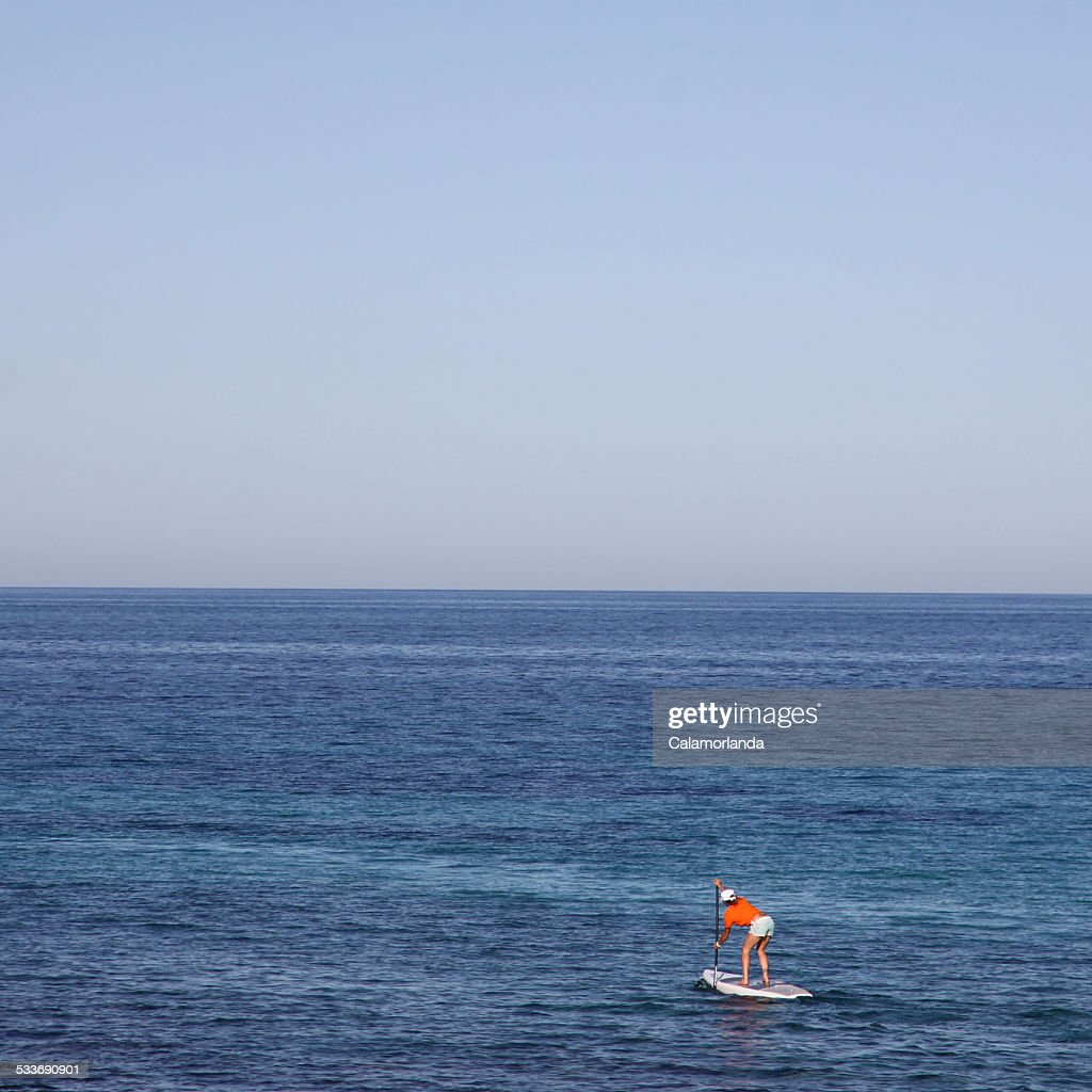 The pale surf : Foto stock