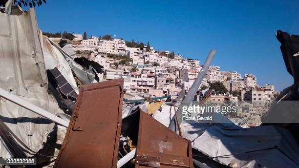 the palestinian neighbourhood of silwan in jerusalem - israel stock pictures, royalty-free photos & images
